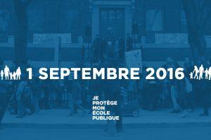 RENTRÉE SCOLAIRE : MOBILISONS-NOUS DÈS LE 1er SEPTEMBRE!