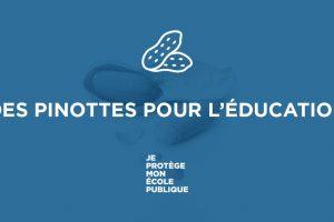 COMMUNIQUÉ : DES PINOTTES POUR L'ÉDUCATION